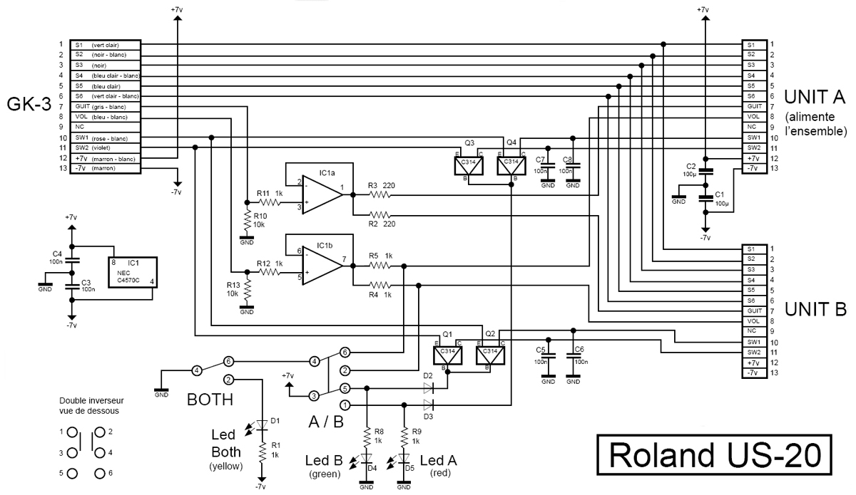 Roland US-20 A/B Selector BUG (Importance of GK-VOL ignment) on
